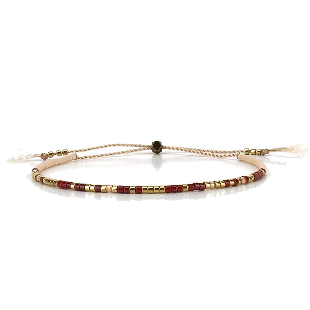 Bracelet Morse code Amazing cranberry