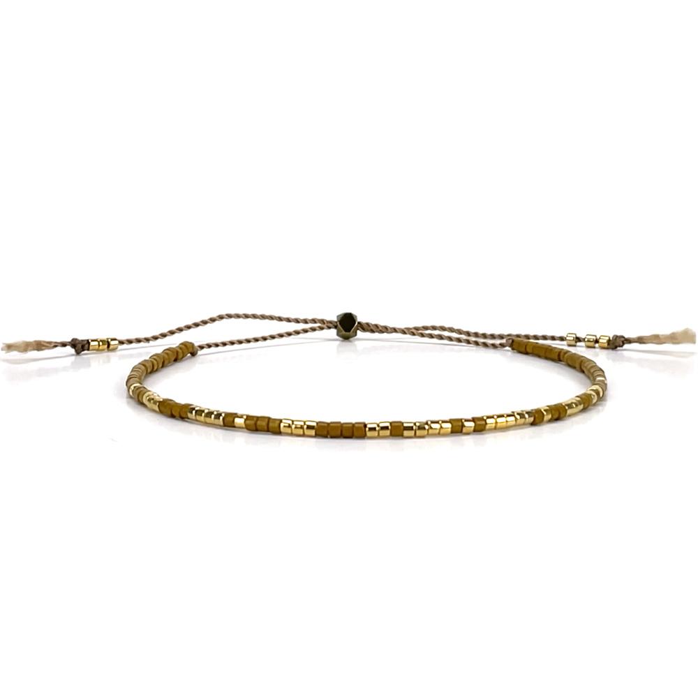 Morse code bracelet - cognac