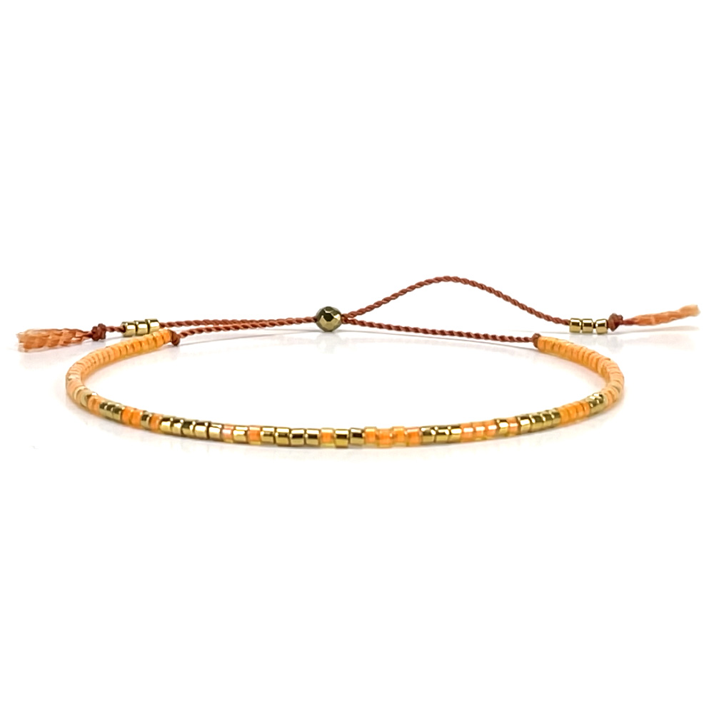 Morse code bracelet - orange