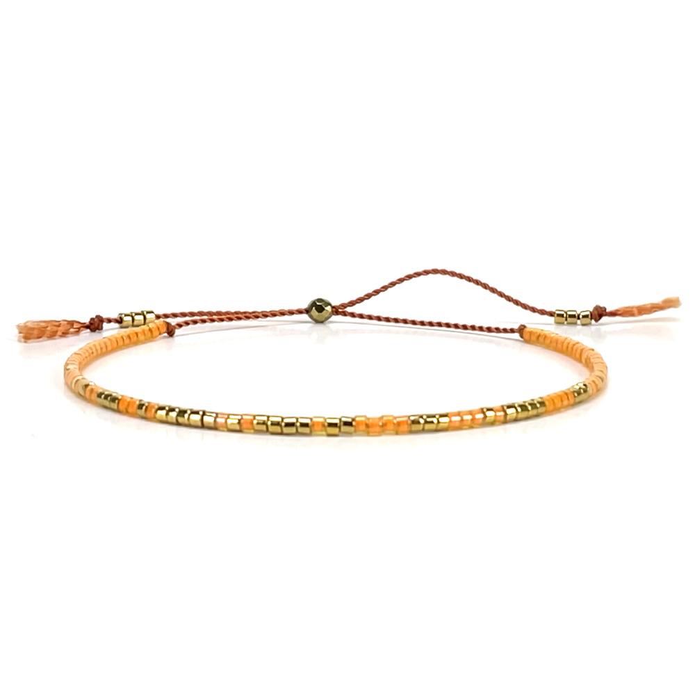 Morse code armbandje - orange