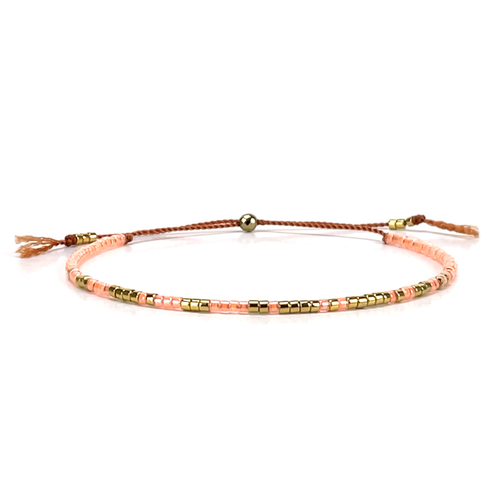 Morse code armbandje - pink mango