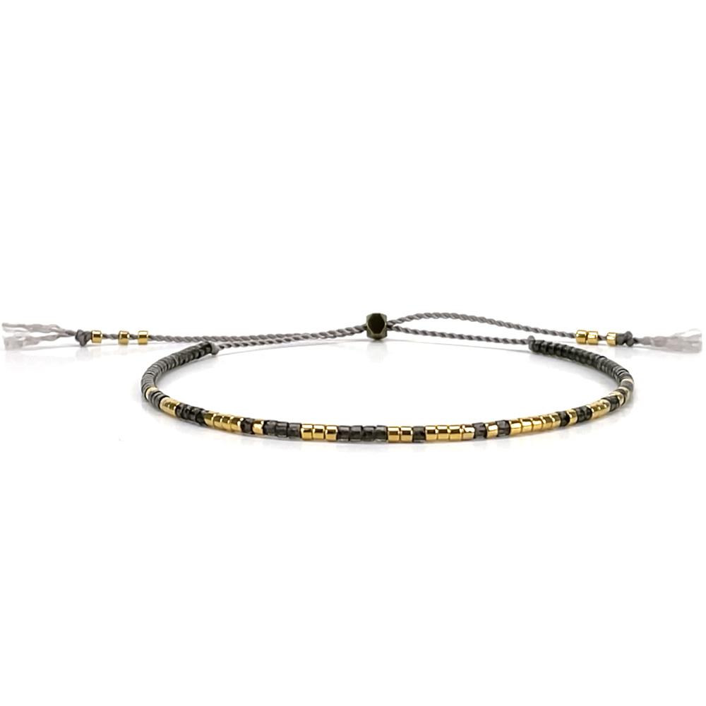 Morse code bracelet - smokey grey